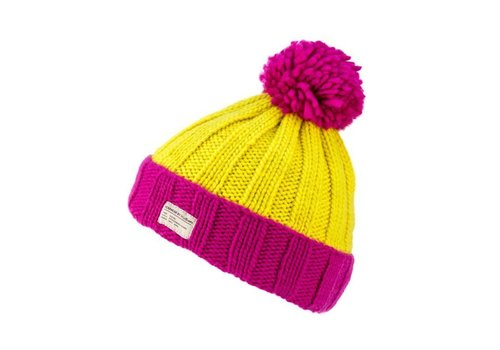 Kusan Mos Yarn Bobble Hat w/Turn Up