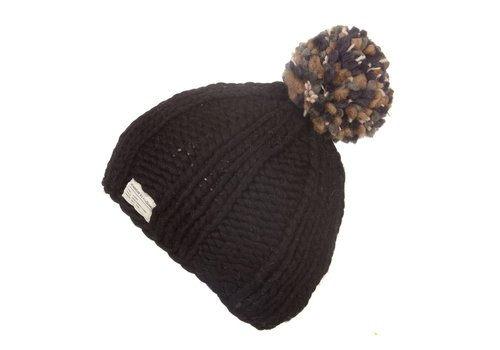 Kusan Thick Yarn Ribbed Multi Bobble Hat
