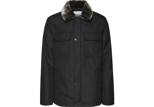Calvin Klein M-65  Bomber Jacket with Shearling Collar