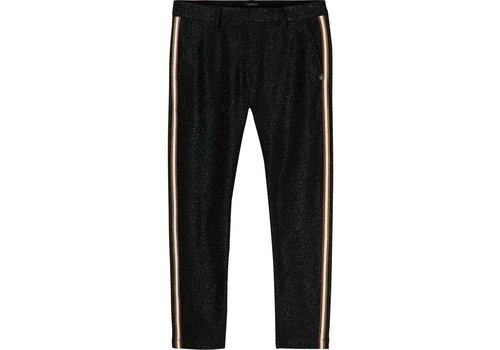 Maison Scotch Lurex tailored pants with tape detail