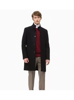 Calvin Klein Abrigo de lana y cashmere con cuello chimenea