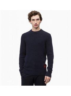 Calvin Klein Sweater aus Baumwoll-Woll-Mix