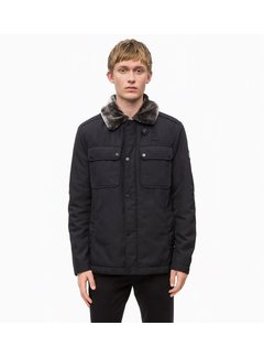 Calvin Klein Field Jacket with Shearling Collar