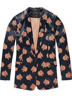 Scotch & Soda Snow leopard jacquard blazer