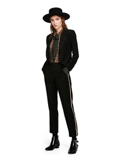Scotch & Soda Lurex tailored pants with tape detail