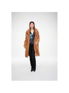 YAYA Long faux fur coat