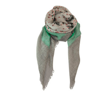 Black Colour TEMPLE deluxe scarf
