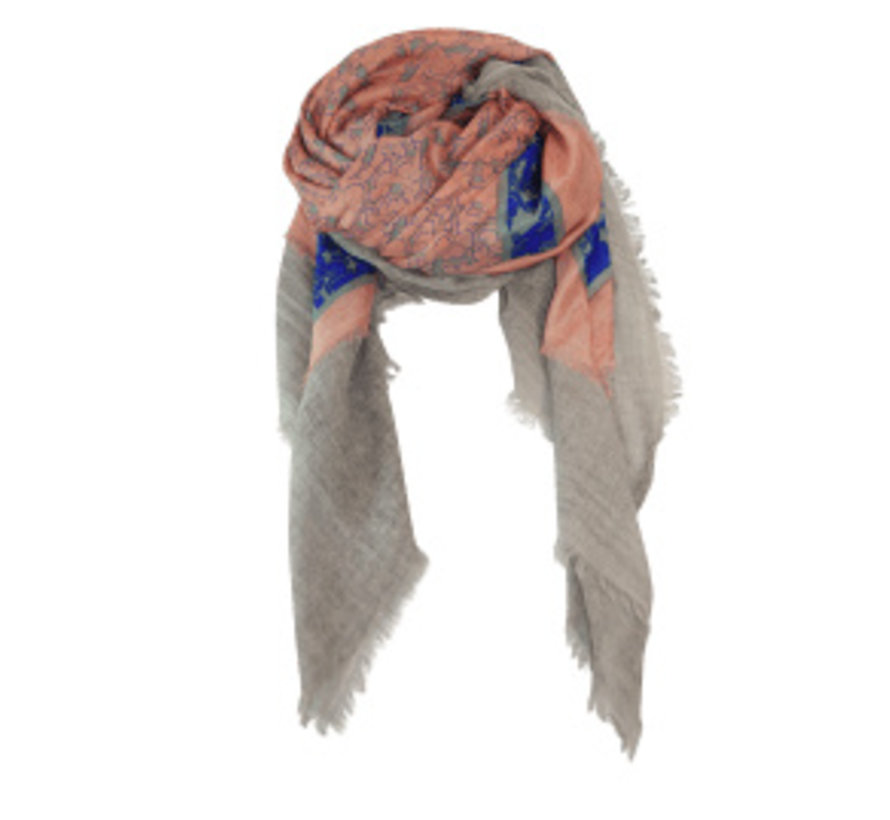 BLUE BELL deluxe scarf rose