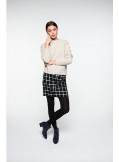 YAYA Wrap check print miniskirt
