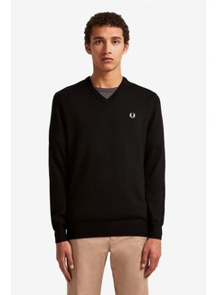 Fred Perry Klassinen v-neule