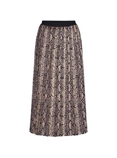 Co'Couture Snake Plisse Skirt