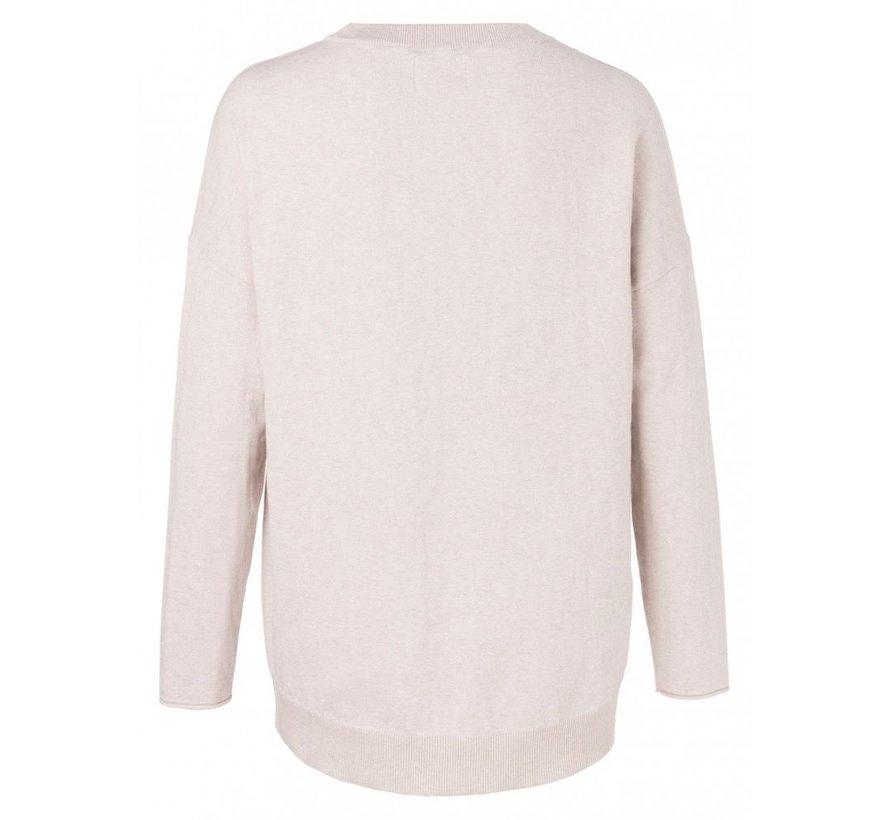 Classic sweater in silk blend