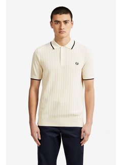 Fred Perry Textured Front Knitted Shirt