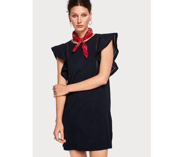 Scotch & Soda Ruffled Sleeve Dress