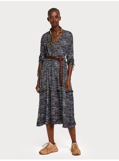 Scotch & Soda Midi-jurk met print