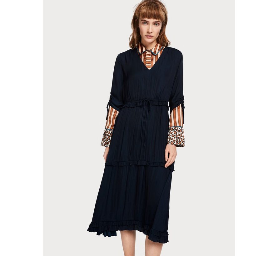 Ruffled Midi Dress