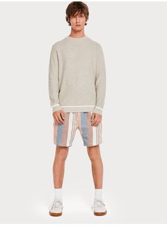 Scotch & Soda Strikket sweater med rund hals