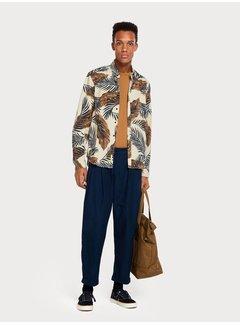 Scotch & Soda Twill overhemd met print  Regular fit