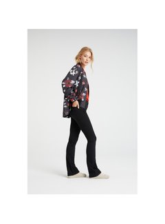 YAYA Bomber coat with flower print