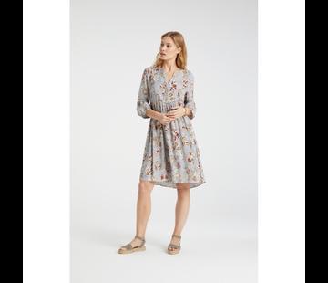 YAYA Fließendes Kleid mit V-Ausschnitt und Paisley-Print