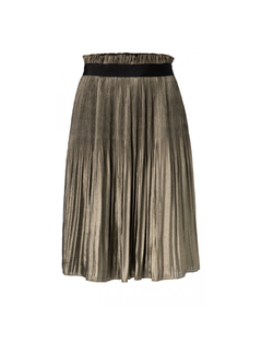YAYA Shiny plaited knee length skirt