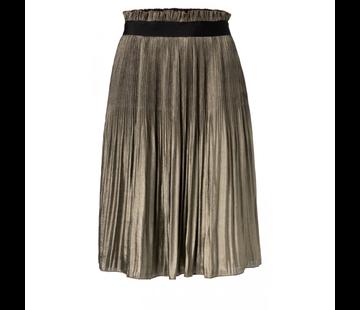 YAYA Shiny plaited knee length skirt