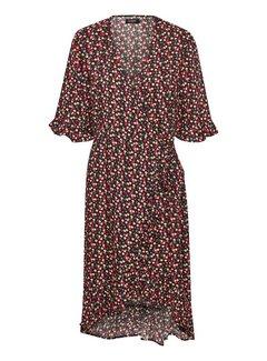Soaked In Luxury Pernille Flower Wrap jurk