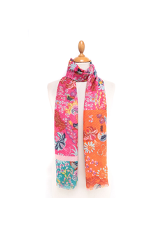 MAISONFANLI Colorful Scarf Orange/Red