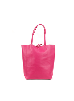 MAISONFANLI Leather Shopper Fuchsia