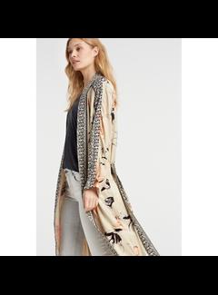 YAYA Long printed kimono blazer