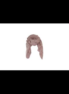 Black Colour LEAF scarf-rose