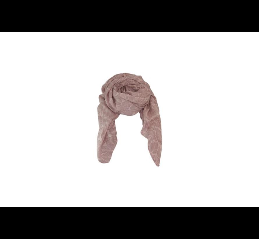 LEAF scarf-rose