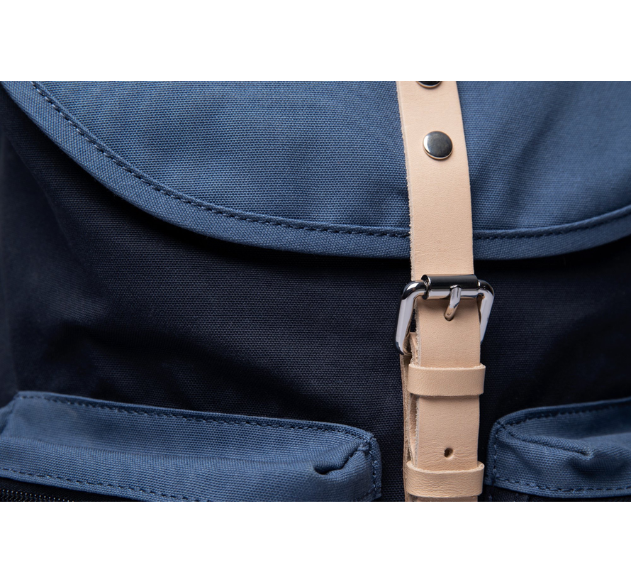 Roald Multi Blue/Dusty Blue with Natural Leather