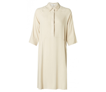 YAYA Polo-style dress with contrast stitching