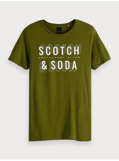 Scotch & Soda T-paita, logoprintillä