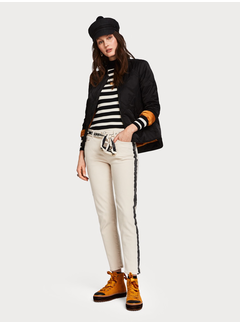 Scotch & Soda Easy Straight fit bomber with special quilting