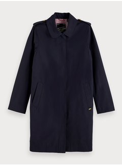 Scotch & Soda Technical trenchcoat with zip closure