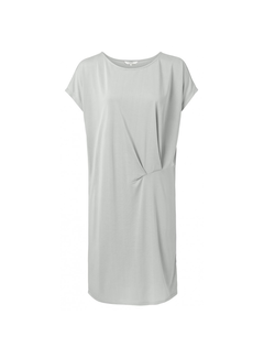 YAYA Kleid mit kurzen Ärmeln und drapierter Vorderseite