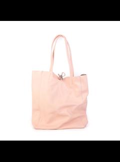 MAISONFANLI Leather Shopper Rose