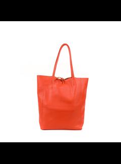 MAISONFANLI Leather Shopper Orange foncé