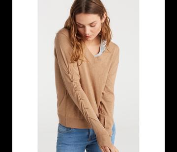 YAYA Sweater with ruching sleeves