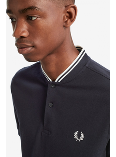 Fred Perry Bomber collar pique