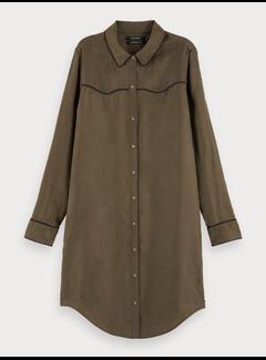 Scotch & Soda Shirt dress in cupro viscose blend