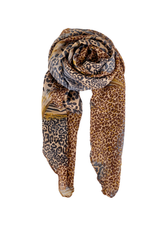 Black Colour Myrtle animal scarf