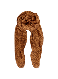 Black Colour Etta dotted camel sjaal