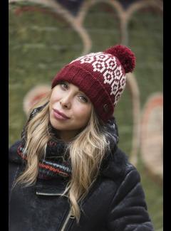 Kusan Red Bobble Hat