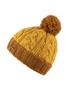 Kusan Cable Turn Up Bobble Hat