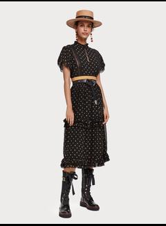 Scotch & Soda Chiffon jurk met print