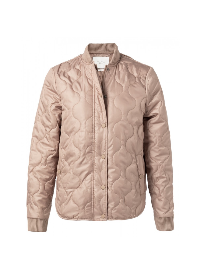 Quilted jacket with rubber press buttoms