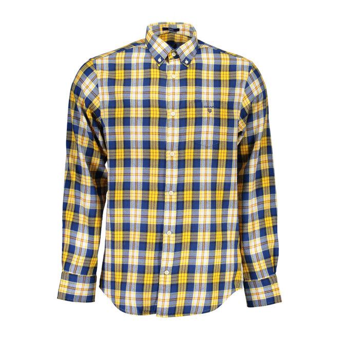 Regular Fit Flannel Plaid Check Shirt - Yellow